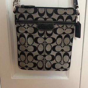 Coach crossbody zippered bag